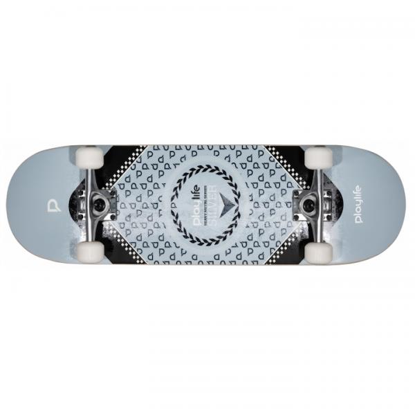 Playlife Skateboard Hardcore silver