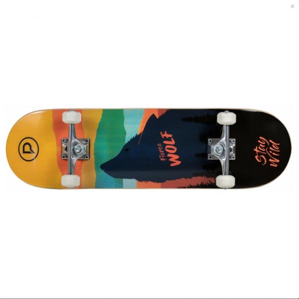 Playlife Skateboard Fierce Wolf